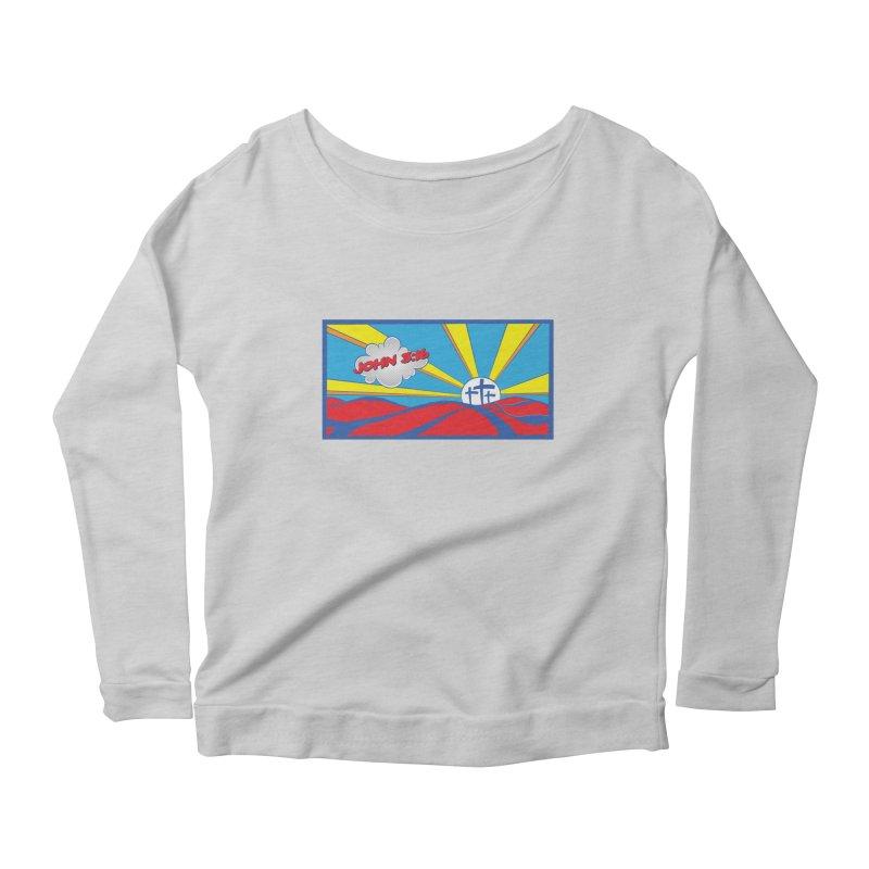 John 3:16 Pop Art Women's Scoop Neck Longsleeve T-Shirt by goofyink's Artist Shop