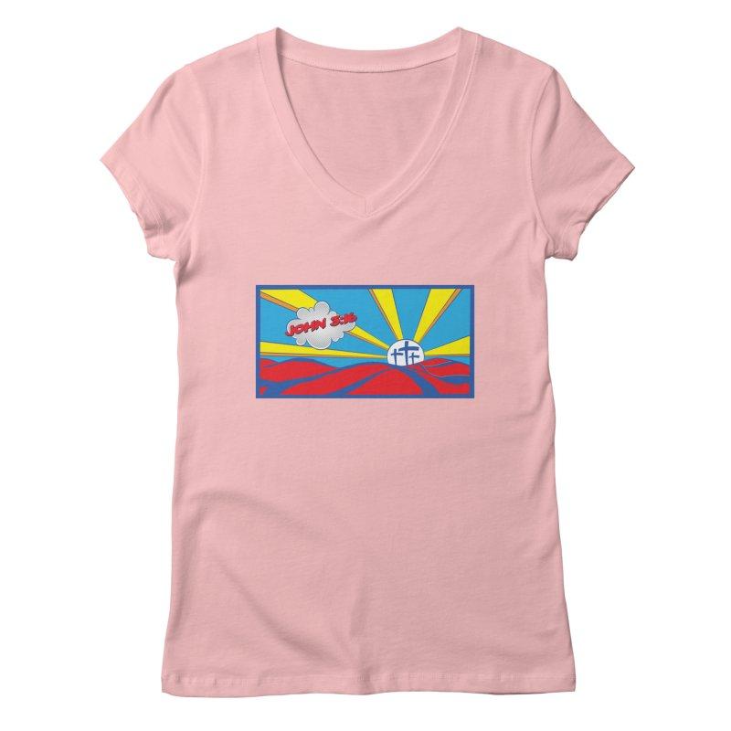 John 3:16 Pop Art Women's V-Neck by goofyink's Artist Shop