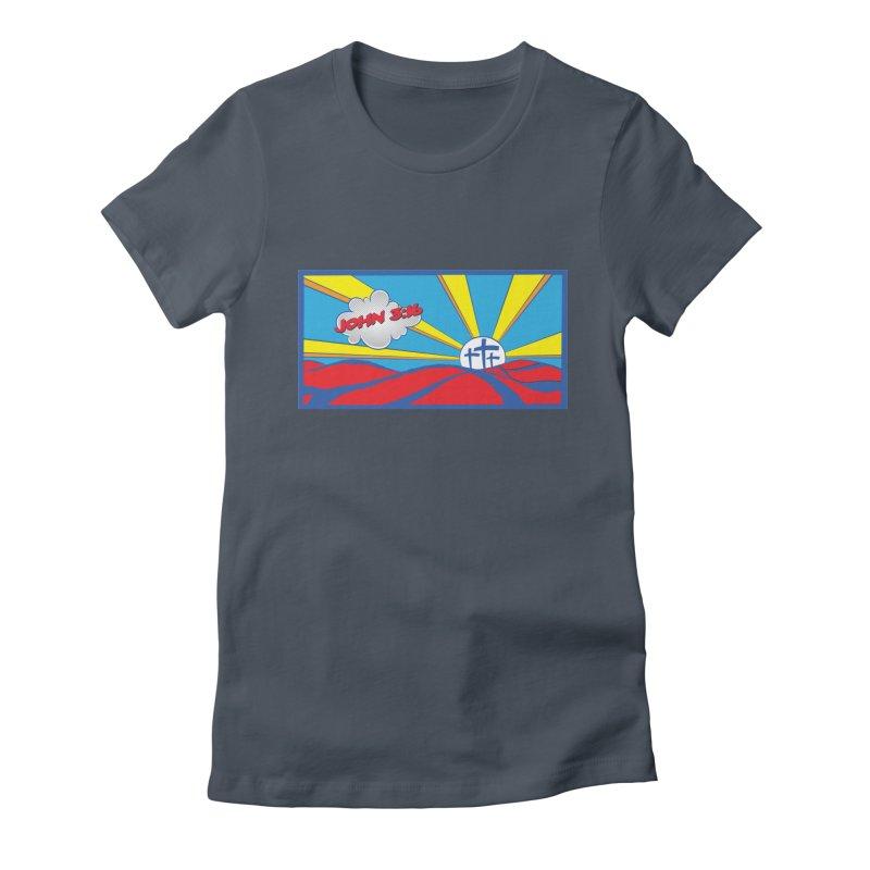 John 3:16 Pop Art Women's Fitted T-Shirt by goofyink's Artist Shop