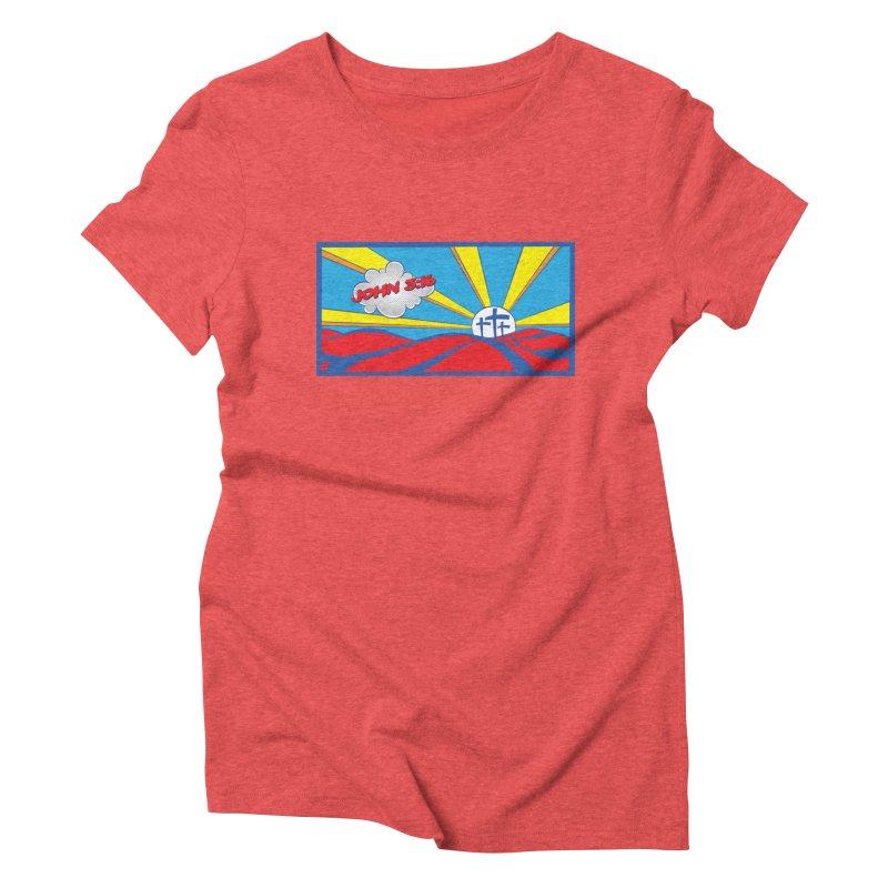 John 3:16 Pop Art Women's Triblend T-Shirt by goofyink's Artist Shop