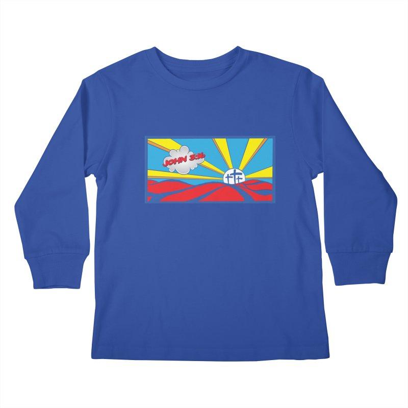John 3:16 Pop Art Kids Longsleeve T-Shirt by goofyink's Artist Shop