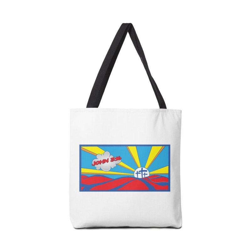 John 3:16 Pop Art Accessories Bag by goofyink's Artist Shop
