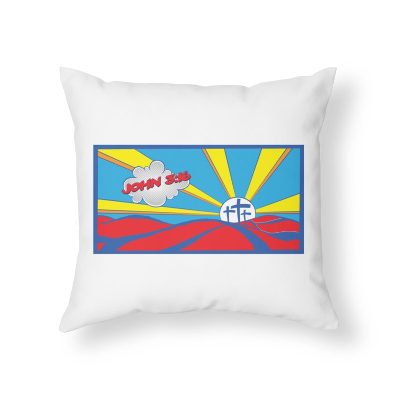 John 3:16 Pop Art Home Throw Pillow by goofyink's Artist Shop