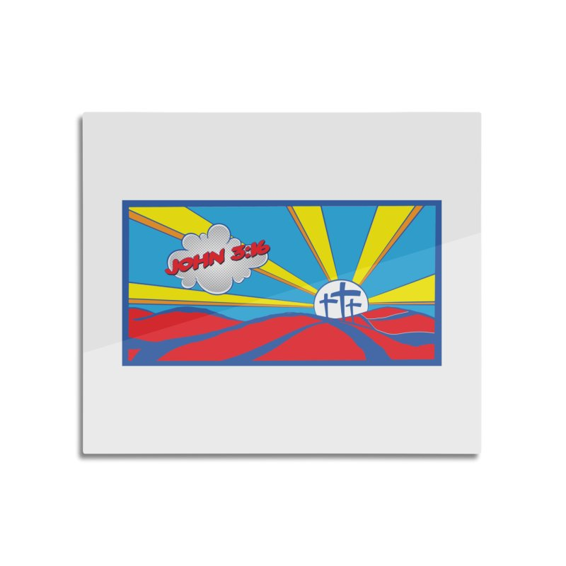John 3:16 Pop Art Home Mounted Acrylic Print by goofyink's Artist Shop