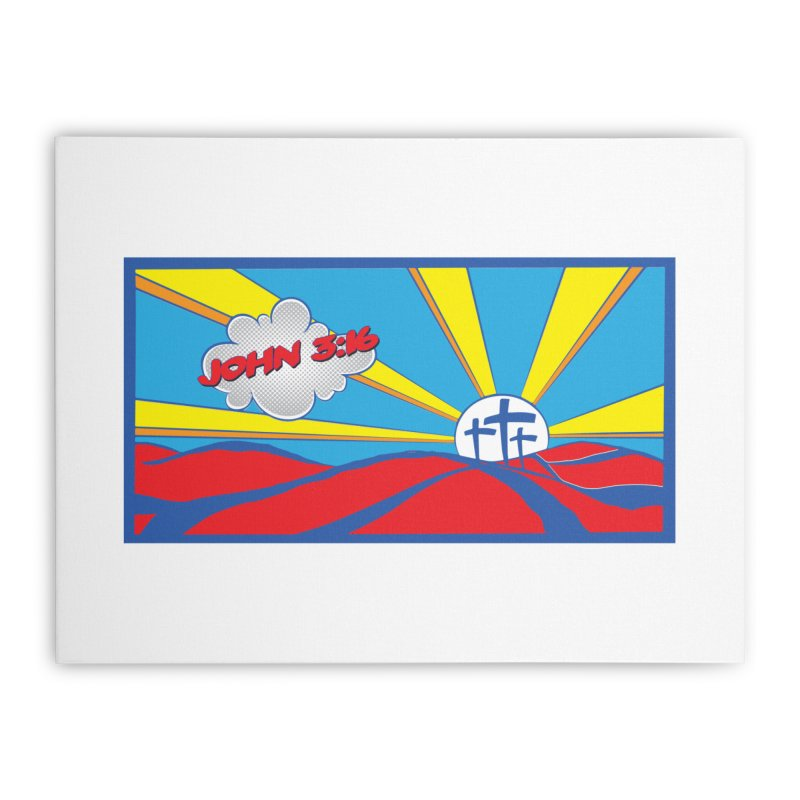 John 3:16 Pop Art Home Stretched Canvas by goofyink's Artist Shop