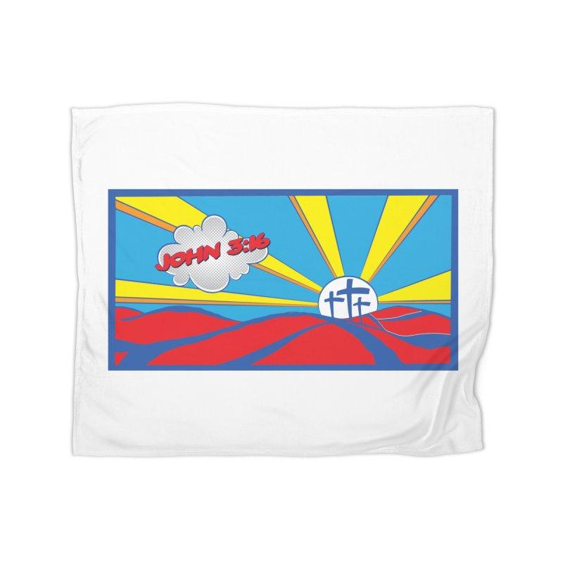 John 3:16 Pop Art Home Blanket by goofyink's Artist Shop