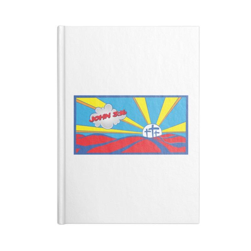 John 3:16 Pop Art Accessories Notebook by goofyink's Artist Shop