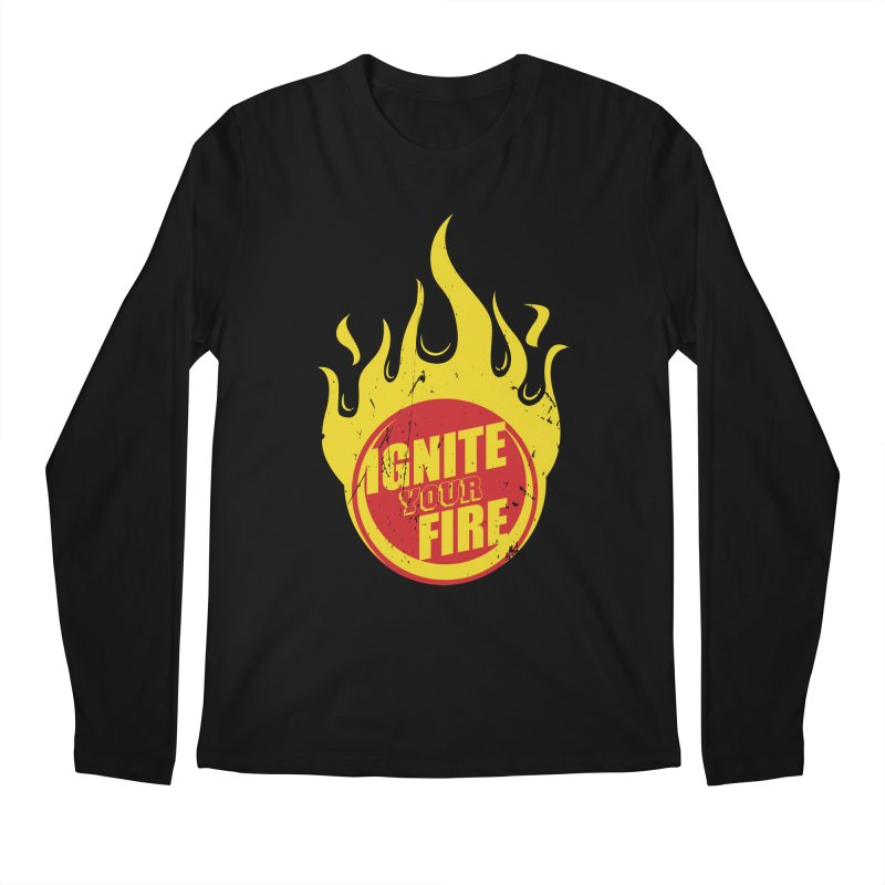 Ignite your fire Men's Regular Longsleeve T-Shirt by goofyink's Artist Shop