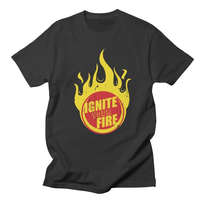 Ignite your fire Men's Regular T-Shirt by goofyink's Artist Shop