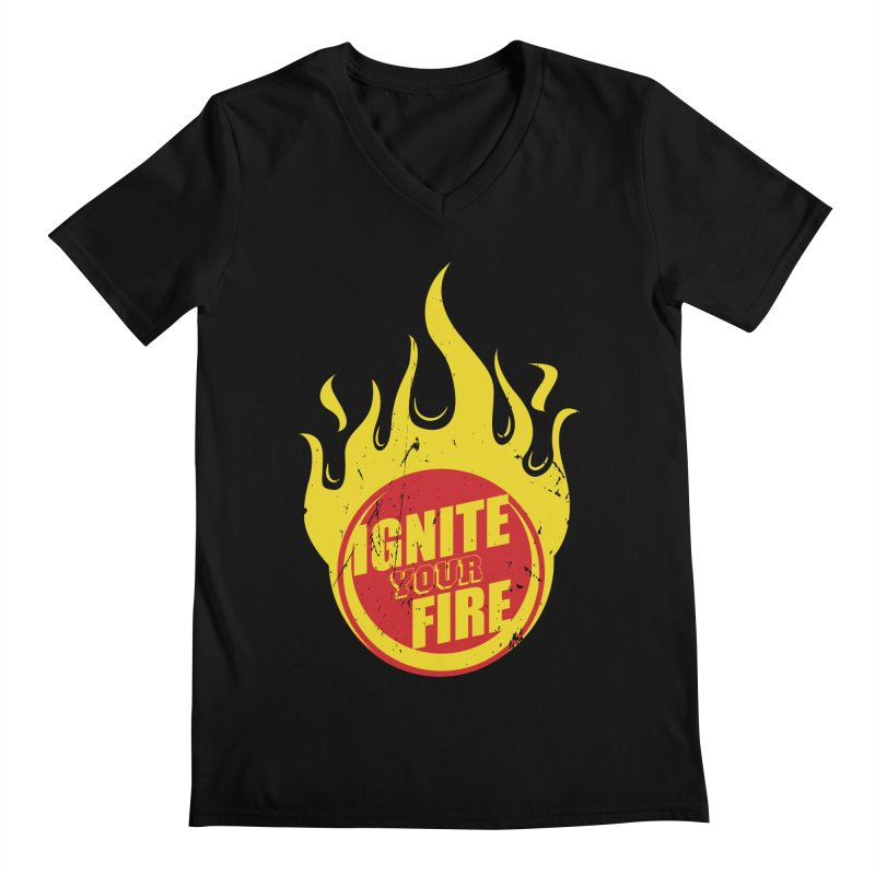 Ignite your fire Men's Regular V-Neck by goofyink's Artist Shop