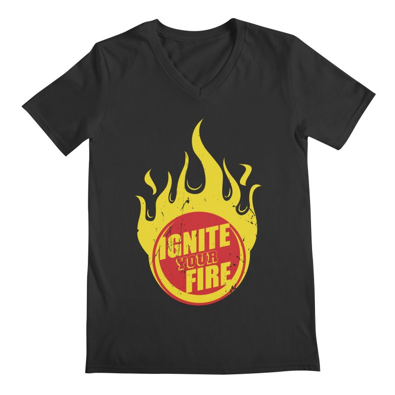 Ignite your fire Men's V-Neck by goofyink's Artist Shop