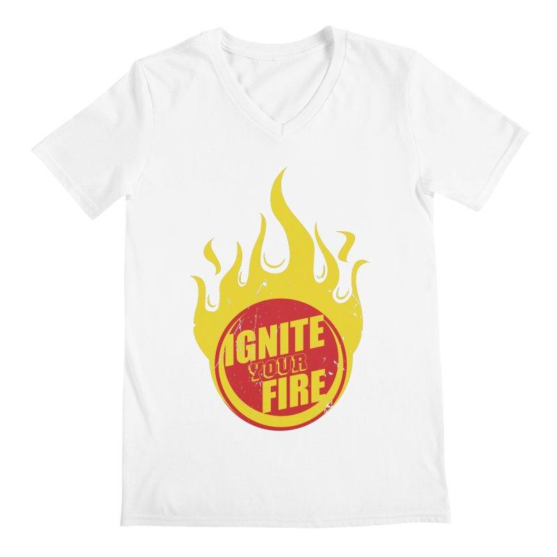 Ignite your fire Men's Regular V-Neck by goofyink's Artist Shop