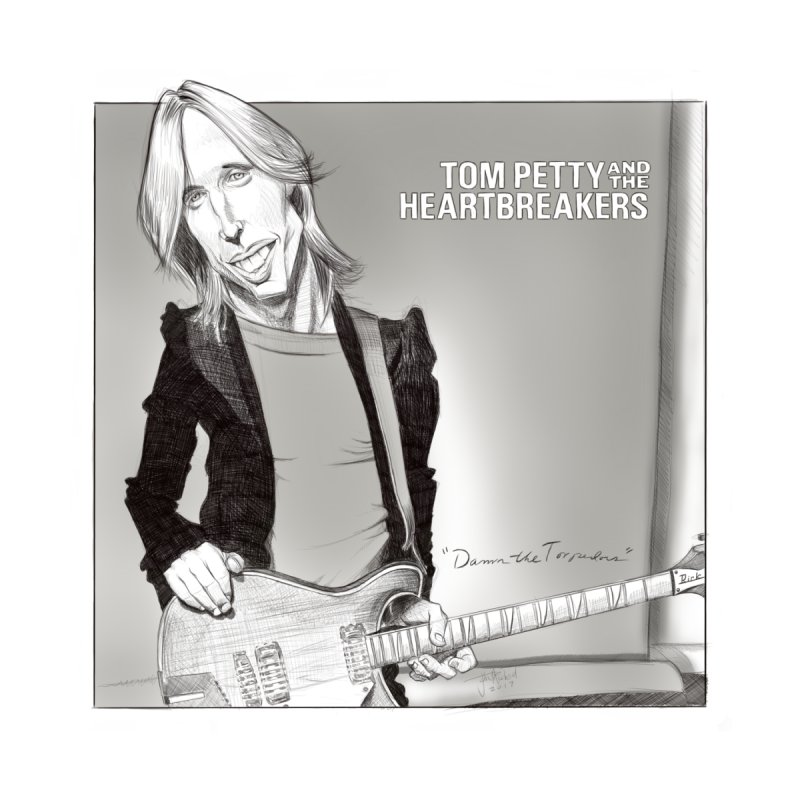 Tom Petty Men's T-Shirt by goofyink's Artist Shop