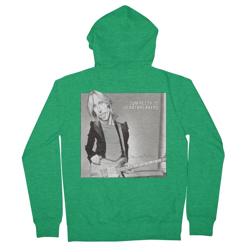 Tom Petty Women's French Terry Zip-Up Hoody by goofyink's Artist Shop