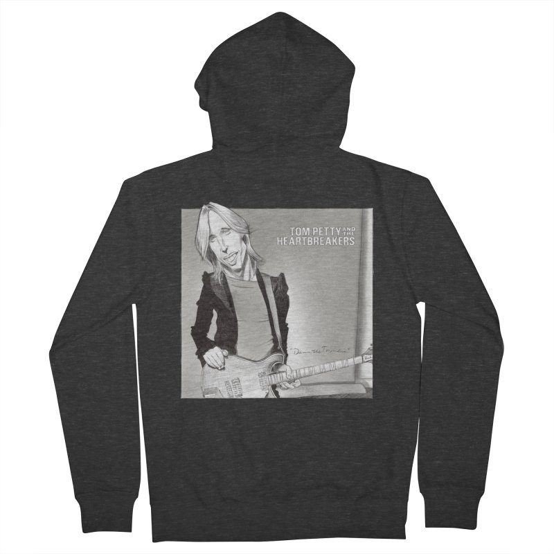 Tom Petty Men's French Terry Zip-Up Hoody by goofyink's Artist Shop