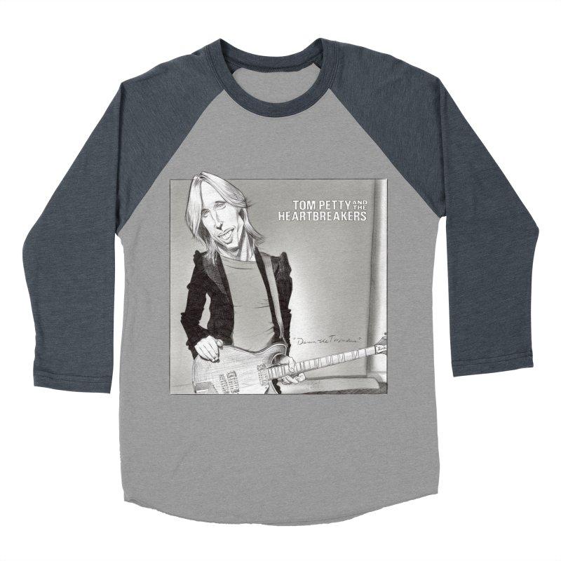 Tom Petty Men's Baseball Triblend Longsleeve T-Shirt by goofyink's Artist Shop
