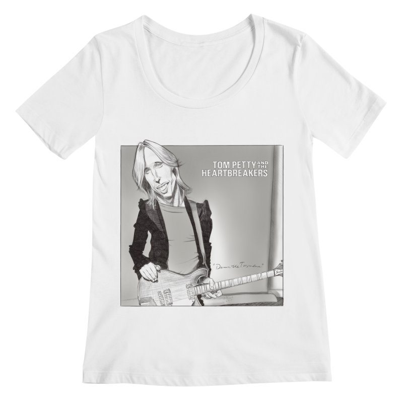 Tom Petty Women's Regular Scoop Neck by goofyink's Artist Shop