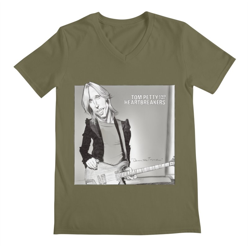 Tom Petty Men's Regular V-Neck by goofyink's Artist Shop