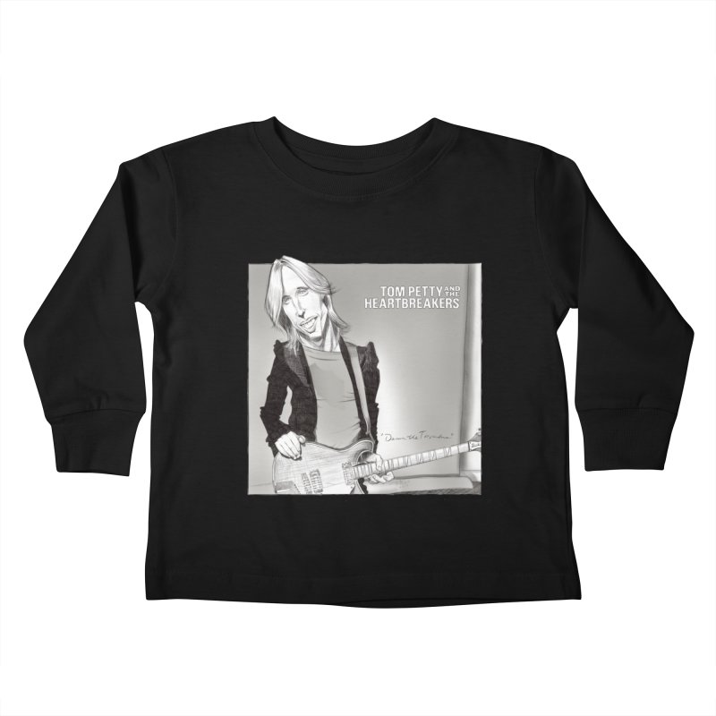 Tom Petty Kids Toddler Longsleeve T-Shirt by goofyink's Artist Shop