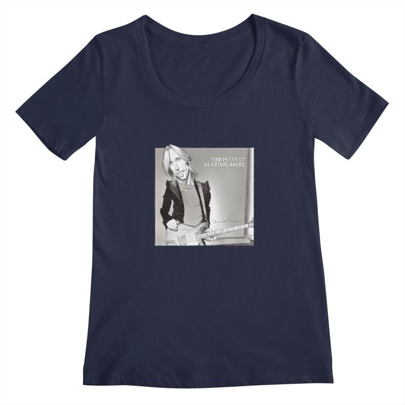 Tom Petty Women's Regular Scoop Neck by goofyink's Artist Shop