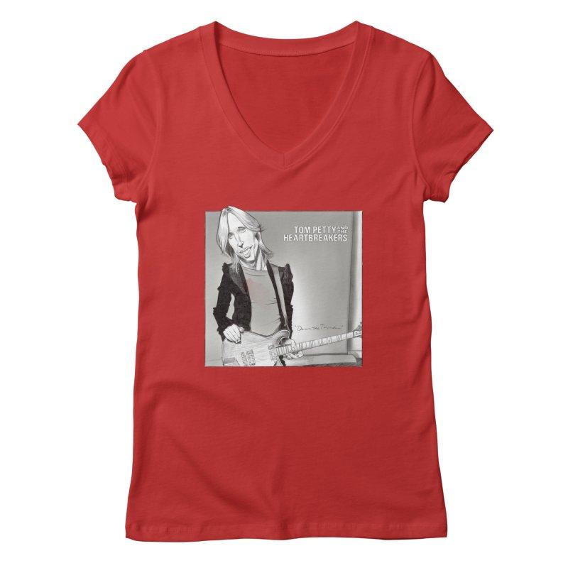 Tom Petty Women's Regular V-Neck by goofyink's Artist Shop