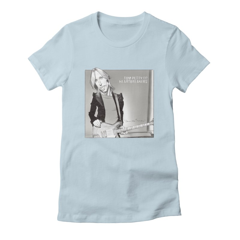 Tom Petty Women's Fitted T-Shirt by goofyink's Artist Shop