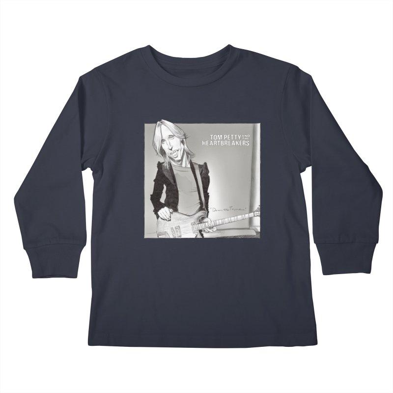 Tom Petty Kids Longsleeve T-Shirt by goofyink's Artist Shop