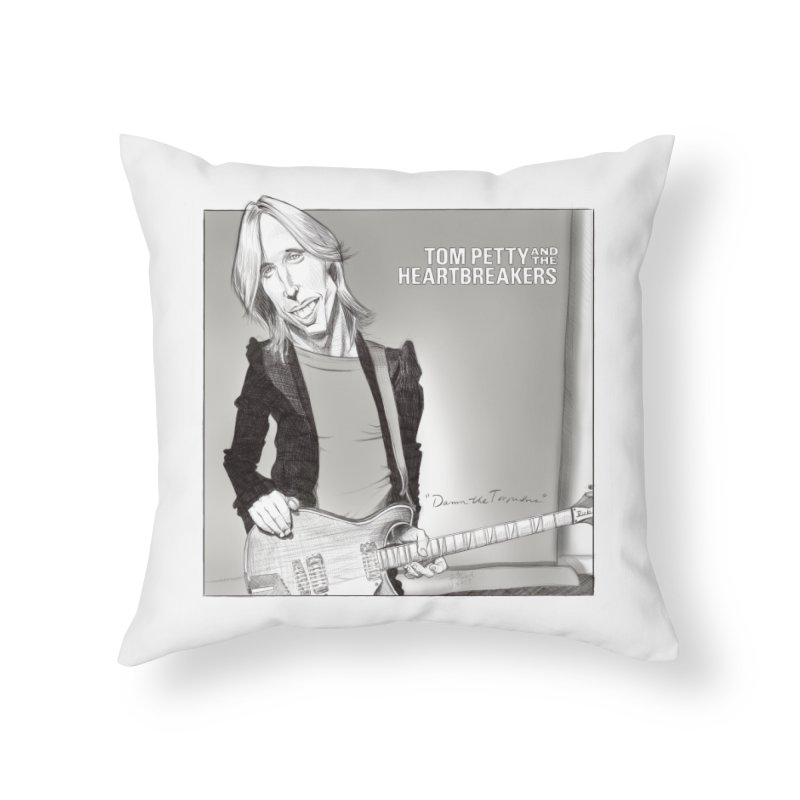 Tom Petty Home Throw Pillow by goofyink's Artist Shop