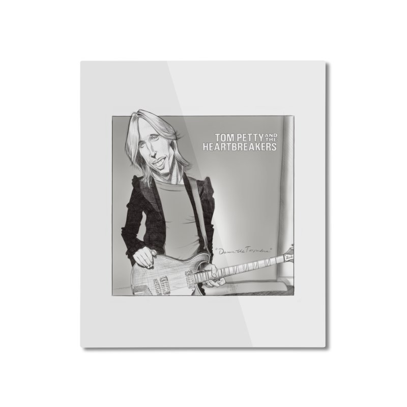 Tom Petty Home Mounted Aluminum Print by goofyink's Artist Shop