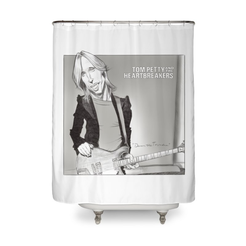 Tom Petty Home Shower Curtain by goofyink's Artist Shop