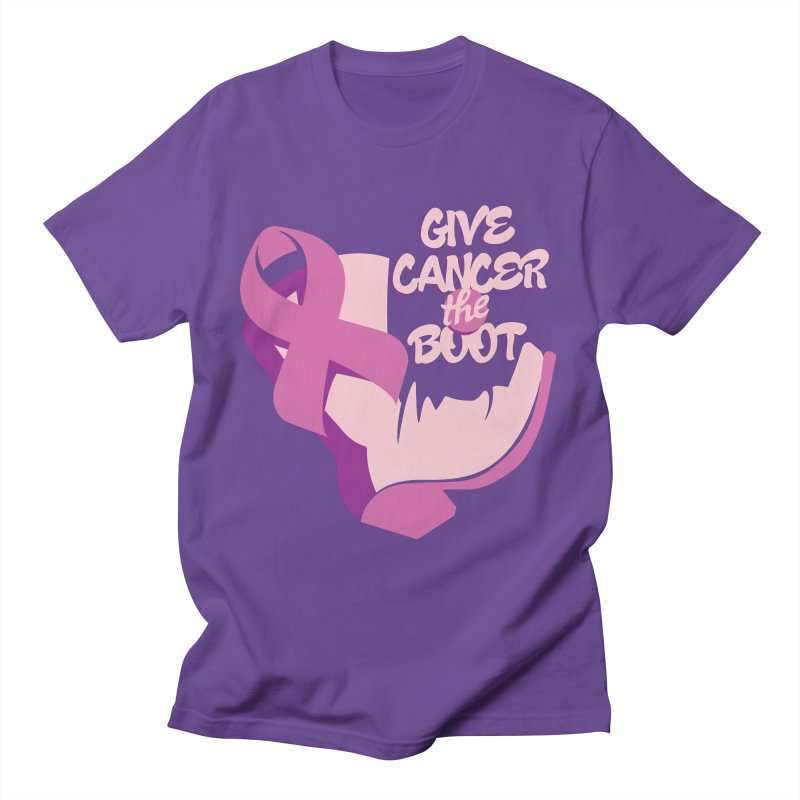 Give Cancer the Boot Women's T-Shirt by goofyink's Artist Shop