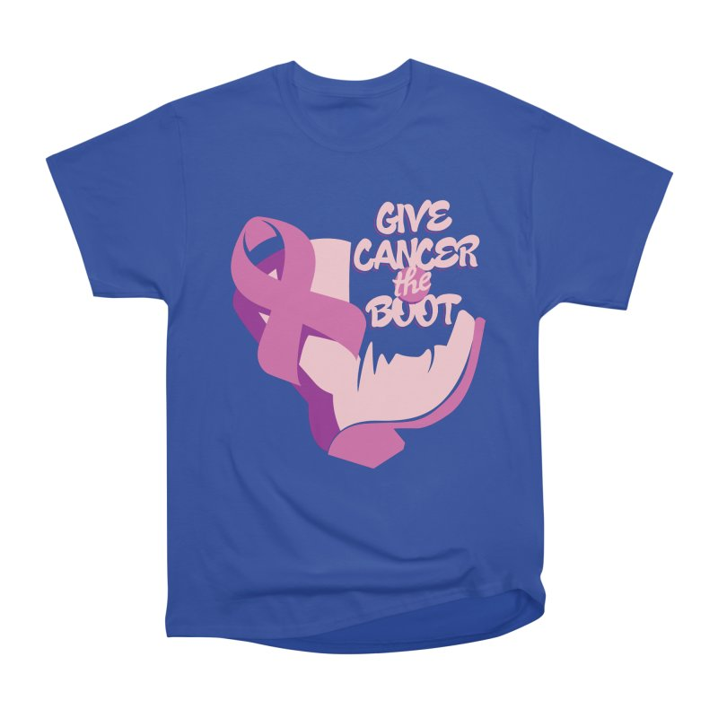 Give Cancer the Boot Men's Heavyweight T-Shirt by goofyink's Artist Shop
