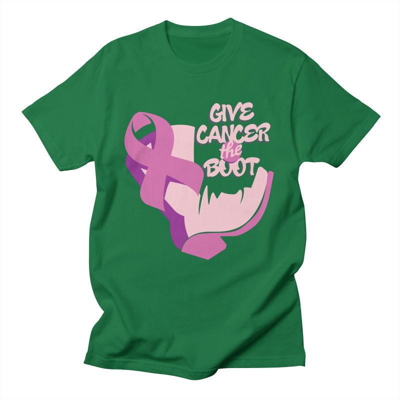 Give Cancer the Boot Men's T-Shirt by goofyink's Artist Shop