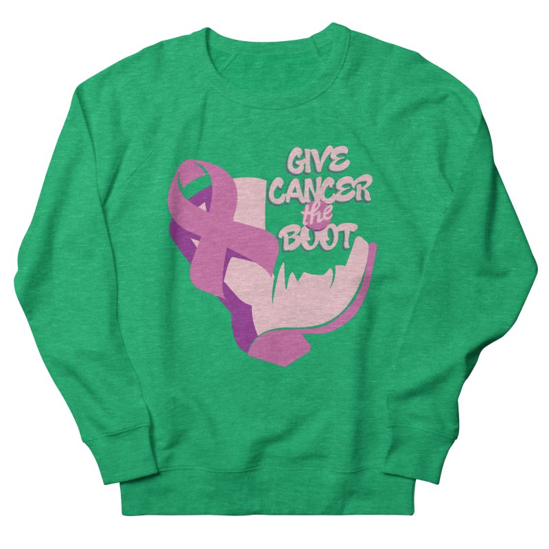 Give Cancer the Boot Men's French Terry Sweatshirt by goofyink's Artist Shop