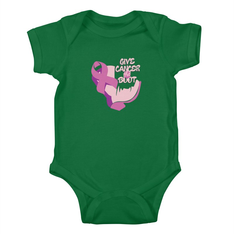 Give Cancer the Boot Kids Baby Bodysuit by goofyink's Artist Shop
