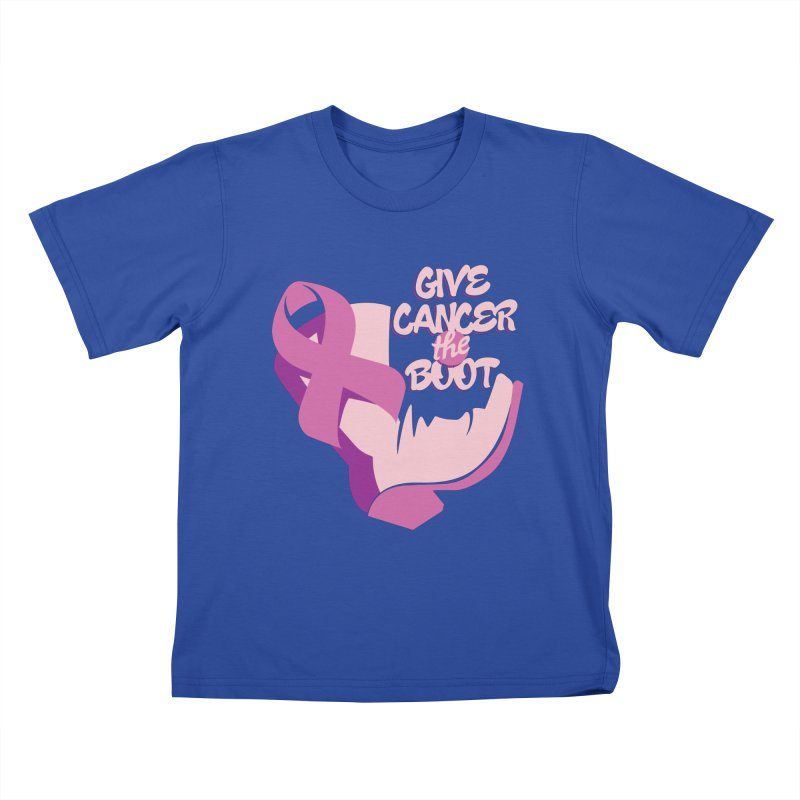 Give Cancer the Boot Kids T-Shirt by goofyink's Artist Shop