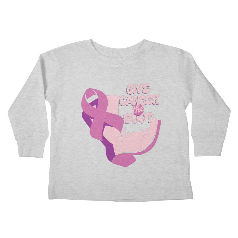 Give Cancer the Boot Kids Toddler Longsleeve T-Shirt by goofyink's Artist Shop