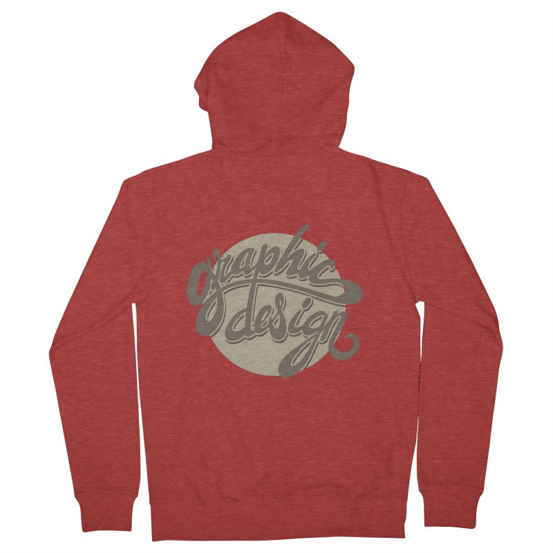 Graphic Design Women's French Terry Zip-Up Hoody by goofyink's Artist Shop