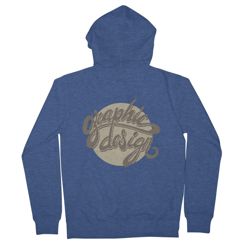 Graphic Design Men's French Terry Zip-Up Hoody by goofyink's Artist Shop