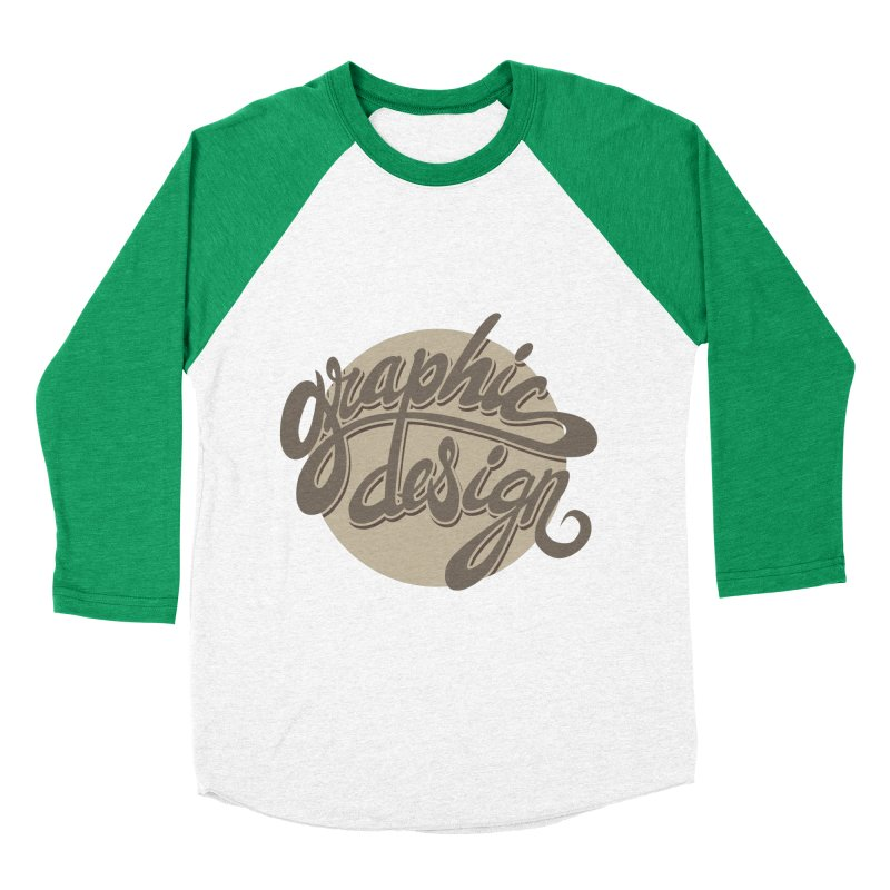 Graphic Design Women's Baseball Triblend Longsleeve T-Shirt by goofyink's Artist Shop