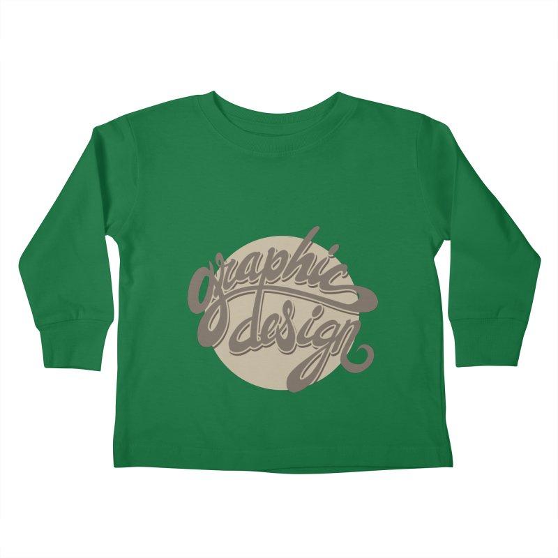 Graphic Design Kids Toddler Longsleeve T-Shirt by goofyink's Artist Shop