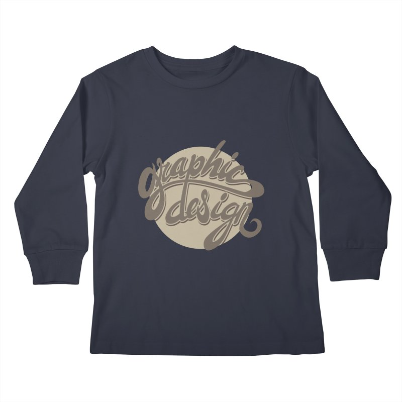 Graphic Design Kids Longsleeve T-Shirt by goofyink's Artist Shop