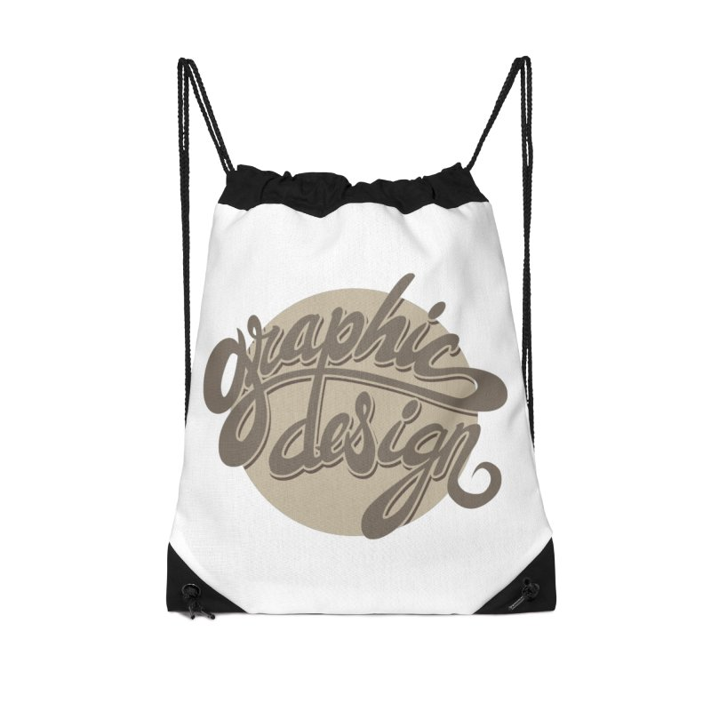 Graphic Design Accessories Drawstring Bag Bag by goofyink's Artist Shop