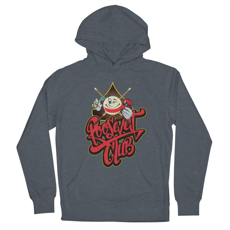 Roosevelt Club Logo Men's French Terry Pullover Hoody by goofyink's Artist Shop