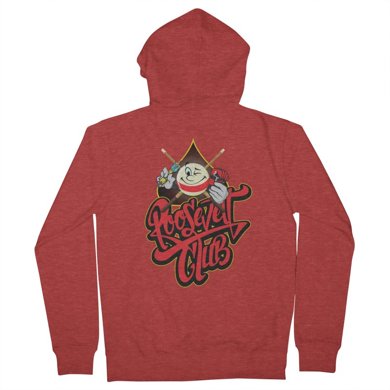 Roosevelt Club Logo Women's French Terry Zip-Up Hoody by goofyink's Artist Shop
