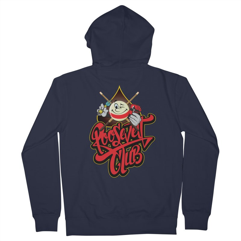Roosevelt Club Logo Men's French Terry Zip-Up Hoody by goofyink's Artist Shop