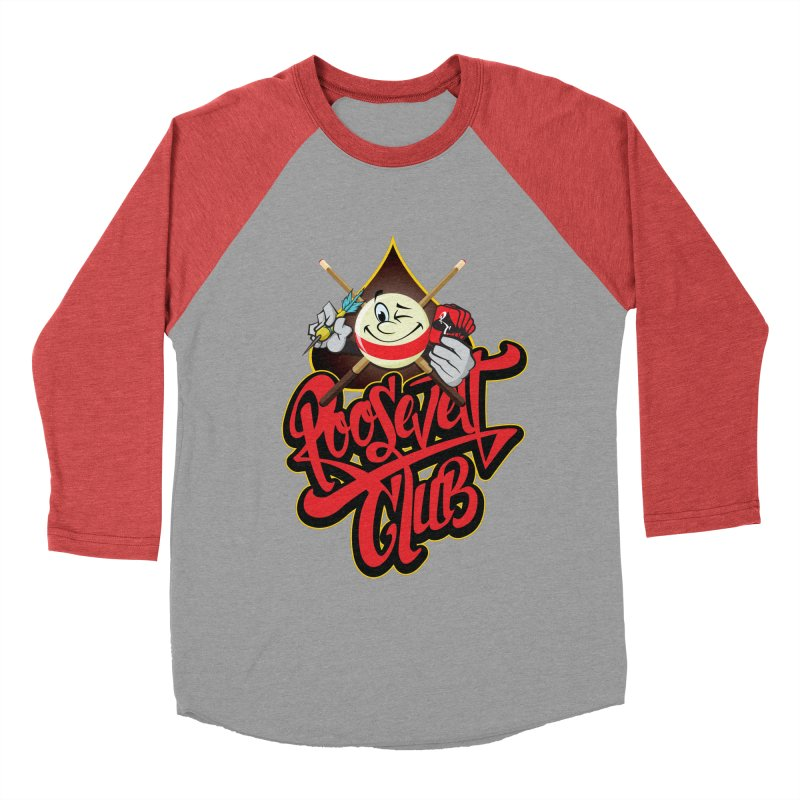 Roosevelt Club Logo Men's Baseball Triblend Longsleeve T-Shirt by goofyink's Artist Shop