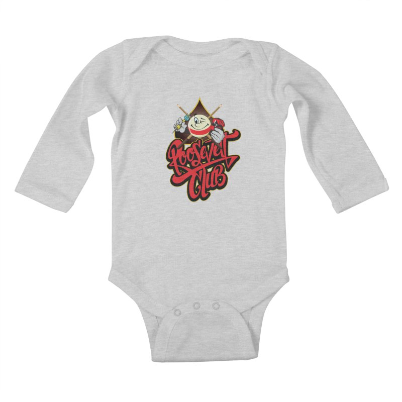 Roosevelt Club Logo Kids Baby Longsleeve Bodysuit by goofyink's Artist Shop
