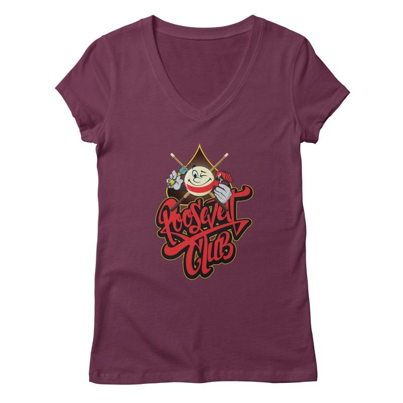 Roosevelt Club Logo Women's V-Neck by goofyink's Artist Shop