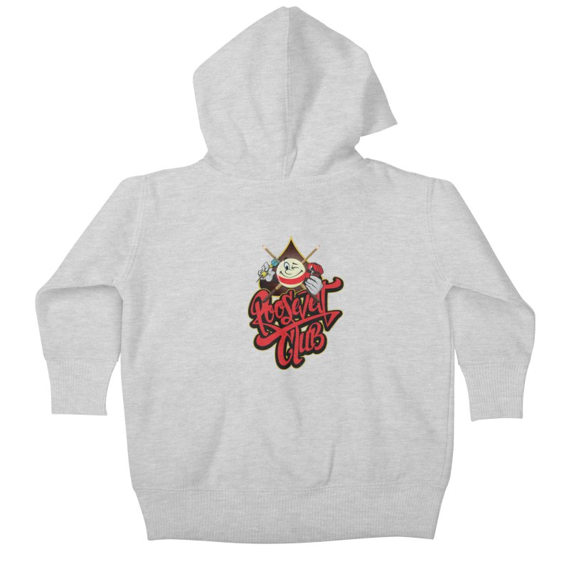 Roosevelt Club Logo Kids Baby Zip-Up Hoody by goofyink's Artist Shop